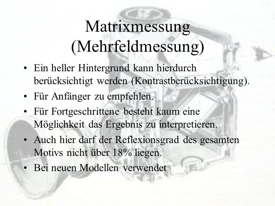Matrixmessung (Mehrfeldmessung)