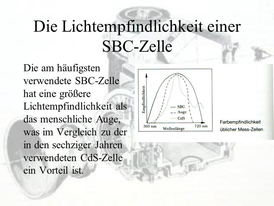 Die Lichtempfindlichkeit einer SBC-Zelle