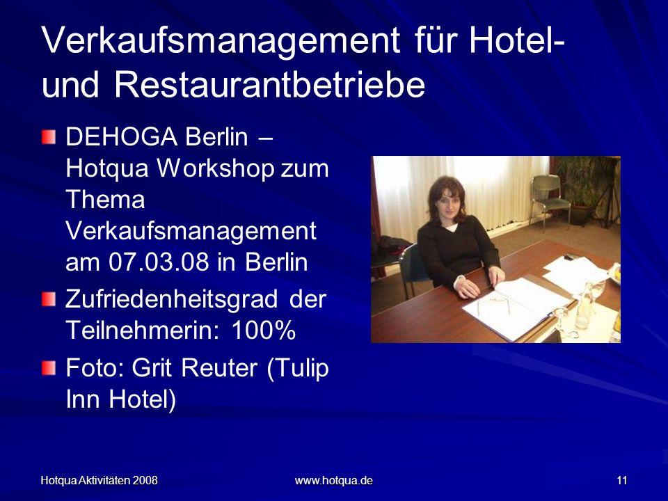 Verkaufsmanagement für Hotel- und Restaurantbetriebe