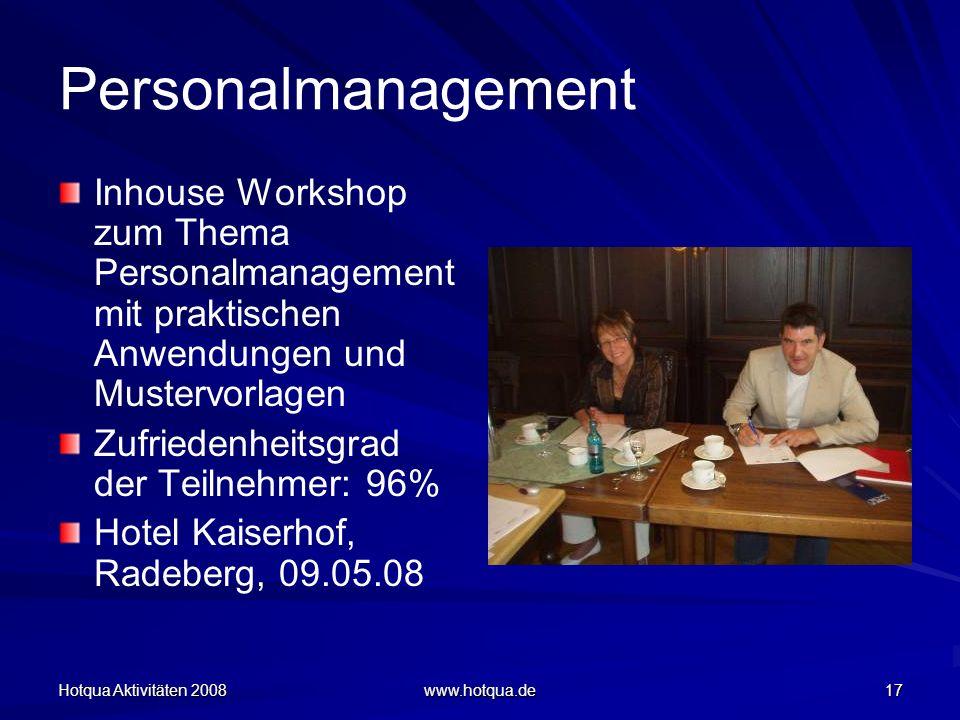 Personalmanagement Inhouse Workshop zum Thema Personalmanagement mit praktischen Anwendungen und Mustervorlagen.