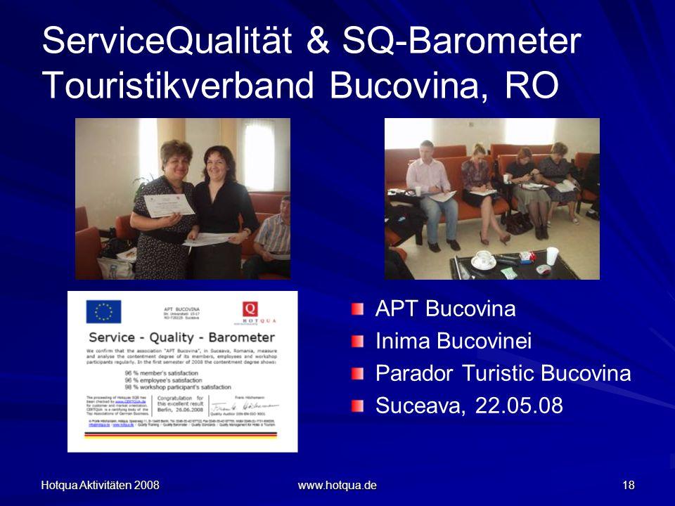 ServiceQualität & SQ-Barometer Touristikverband Bucovina, RO