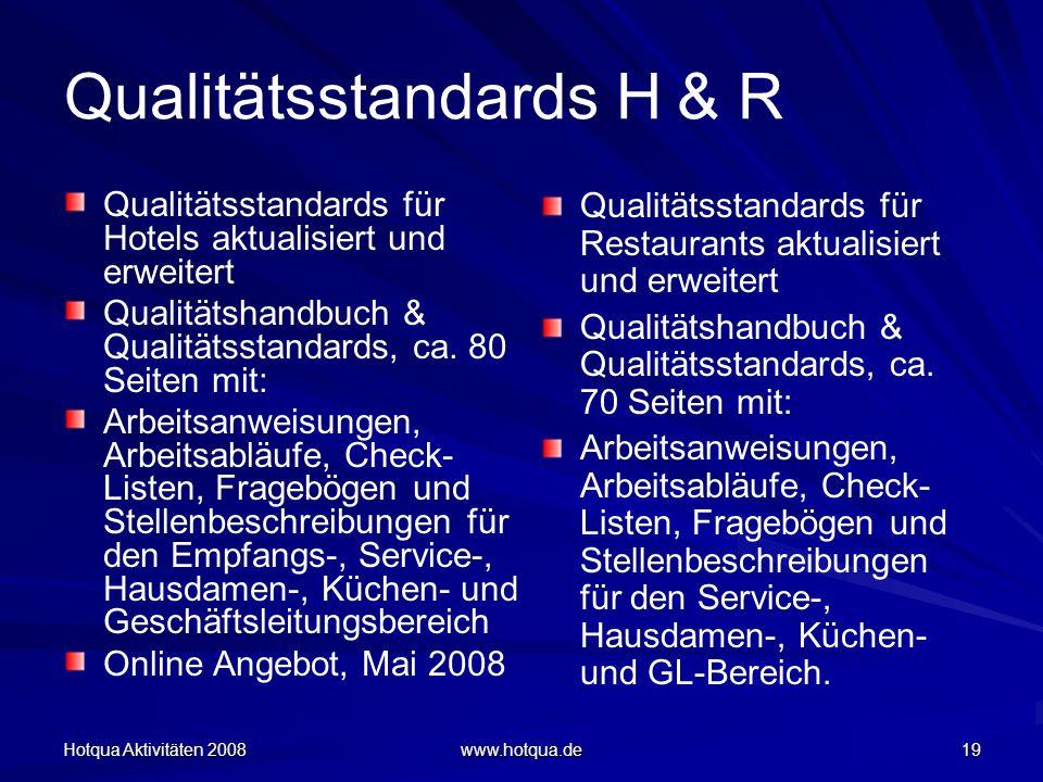 Qualitätsstandards H & R