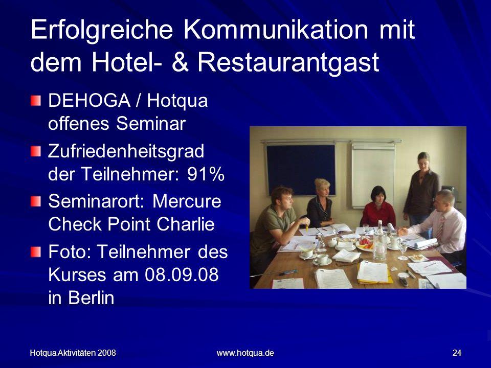 Erfolgreiche Kommunikation mit dem Hotel- & Restaurantgast