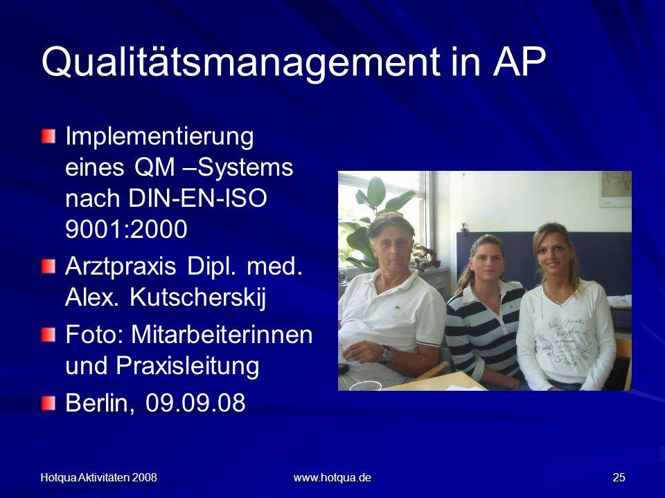 Qualitätsmanagement in AP