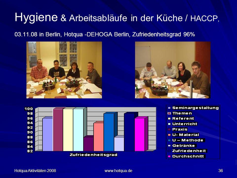 Hygiene & Arbeitsabläufe in der Küche / HACCP, 03. 11