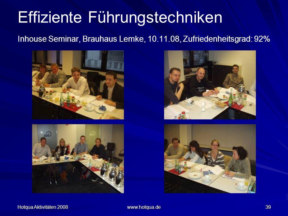 Effiziente Führungstechniken Inhouse Seminar, Brauhaus Lemke, 10. 11