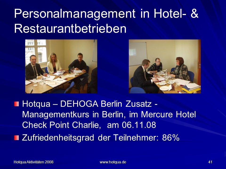Personalmanagement in Hotel- & Restaurantbetrieben