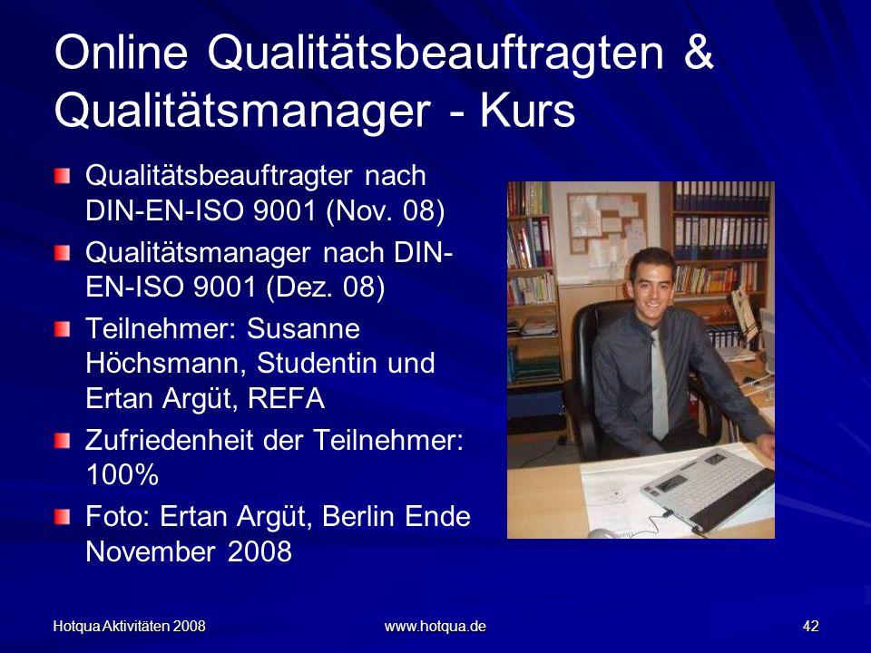 Online Qualitätsbeauftragten & Qualitätsmanager - Kurs