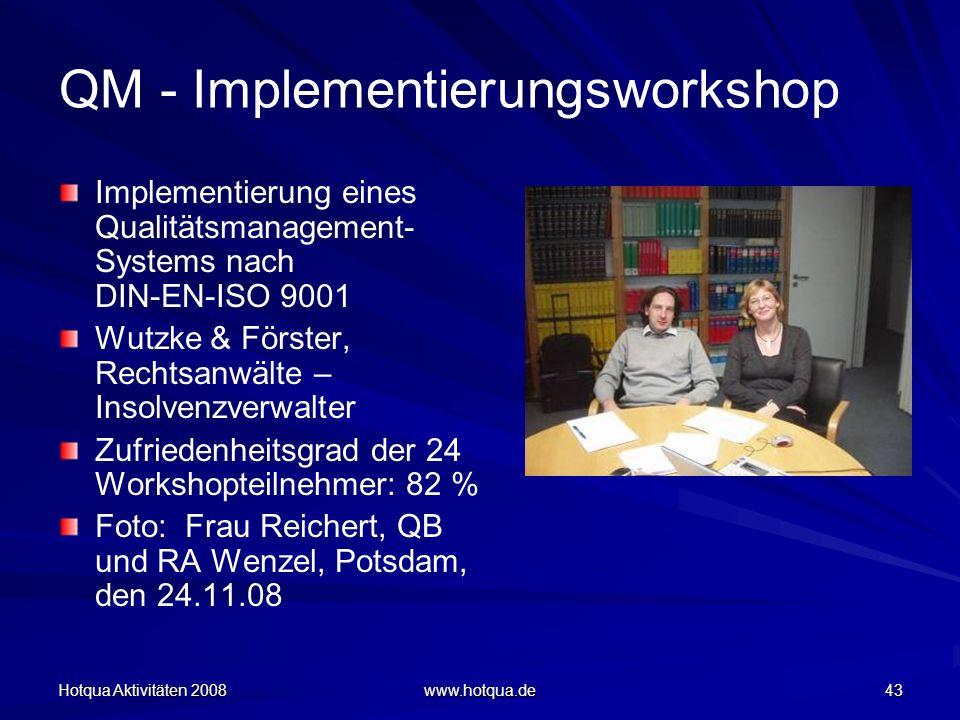QM - Implementierungsworkshop