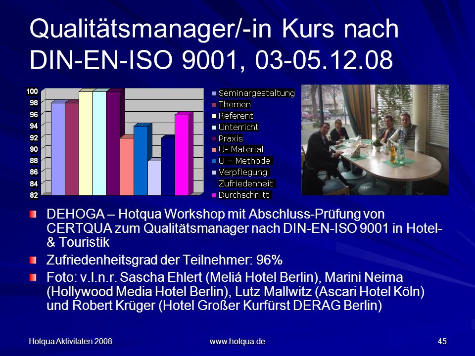 Qualitätsmanager/-in Kurs nach DIN-EN-ISO 9001, 03-05.12.08