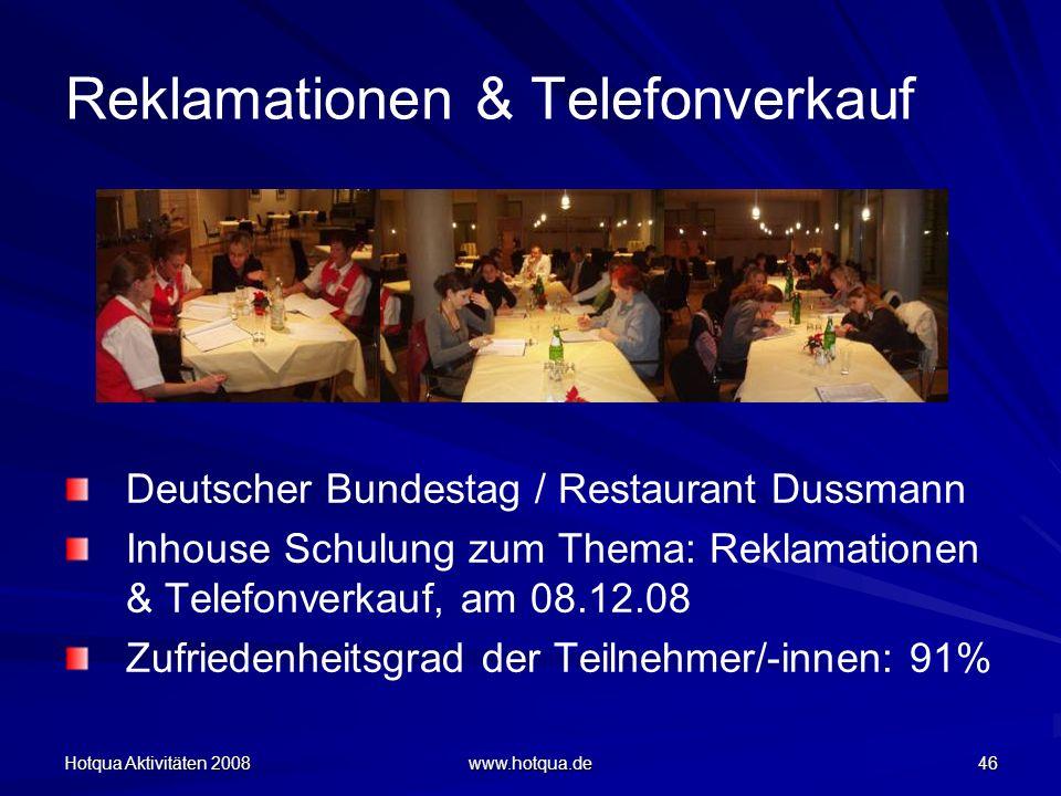 Reklamationen & Telefonverkauf