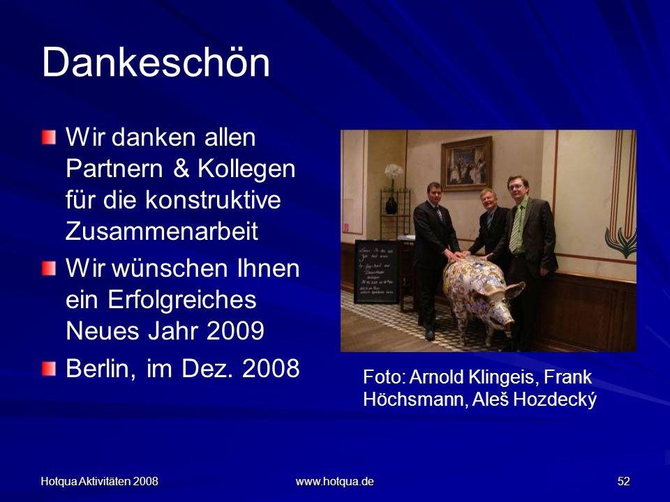 Dankeschön Wir danken allen Partnern & Kollegen für die konstruktive Zusammenarbeit. Wir wünschen Ihnen ein Erfolgreiches Neues Jahr 2009.