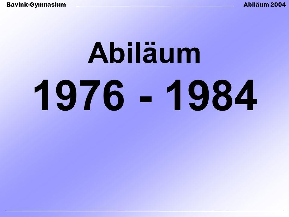 Abiläum 1976 - 1984