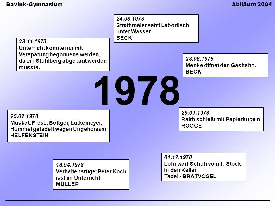 1978 24.08.1978 Strathmeier setzt Labortisch unter Wasser BECK
