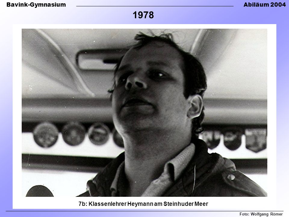 7b: Klassenlehrer Heymann am Steinhuder Meer