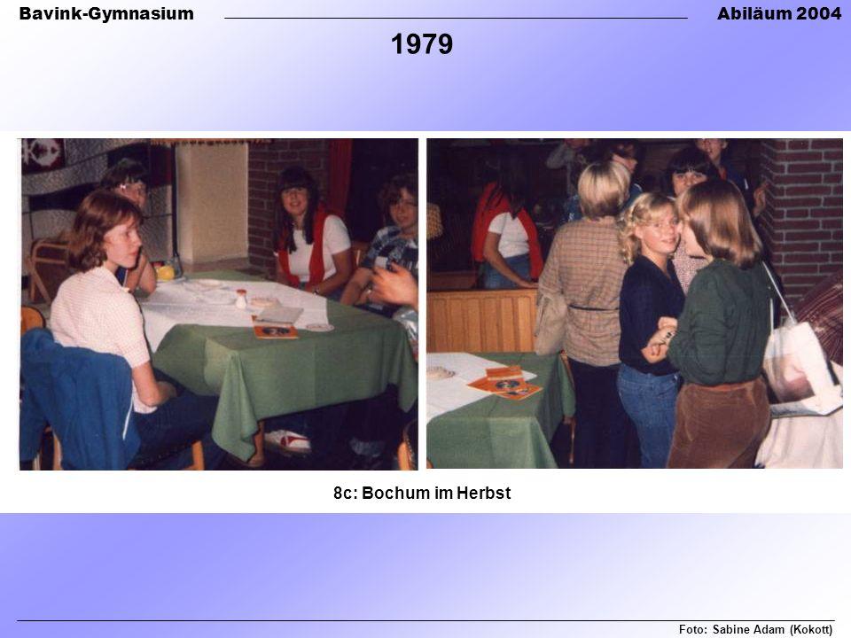 1979 8c: Bochum im Herbst Foto: Sabine Adam (Kokott)