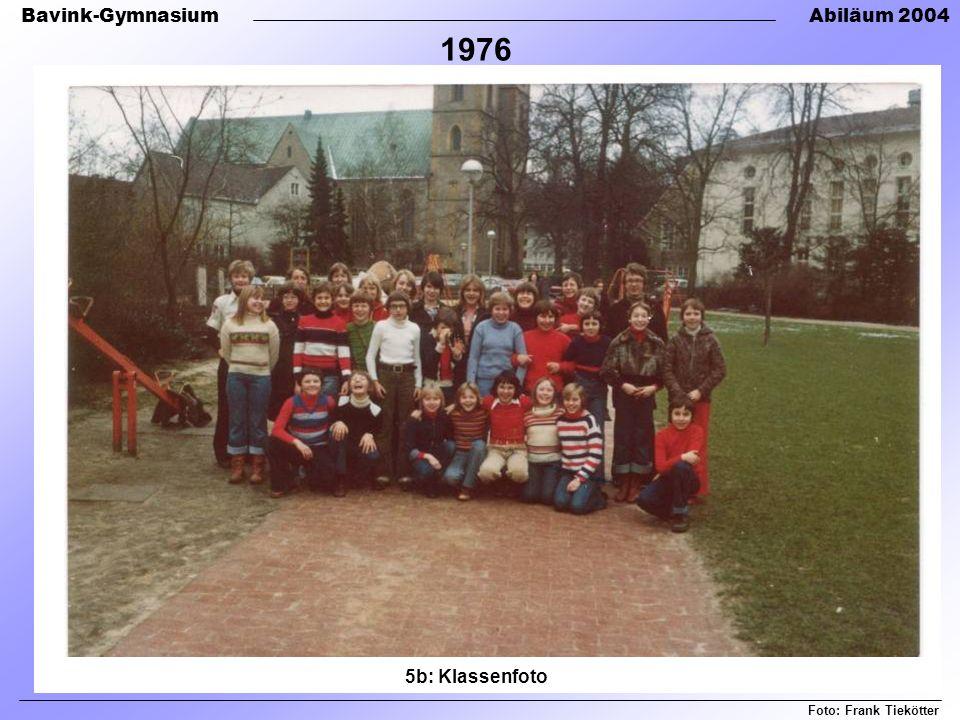 1976 5b: Klassenfoto Foto: Frank Tiekötter