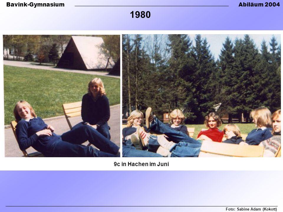 1980 9c in Hachen im Juni Foto: Sabine Adam (Kokott)