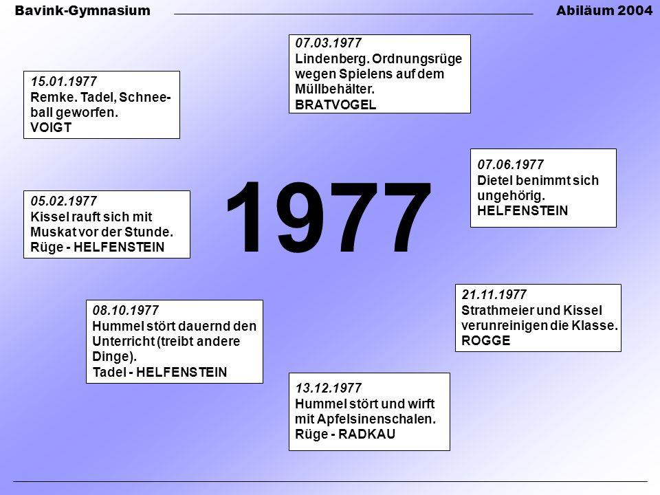 1977 07.03.1977 Lindenberg. Ordnungsrüge wegen Spielens auf dem