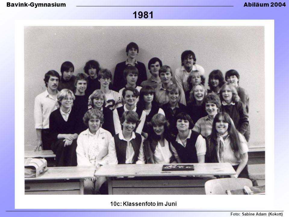 1981 10c: Klassenfoto im Juni Foto: Sabine Adam (Kokott)