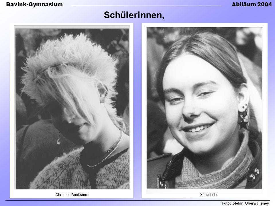 Schülerinnen, Foto: Stefan Oberwalleney Christine Bockstette
