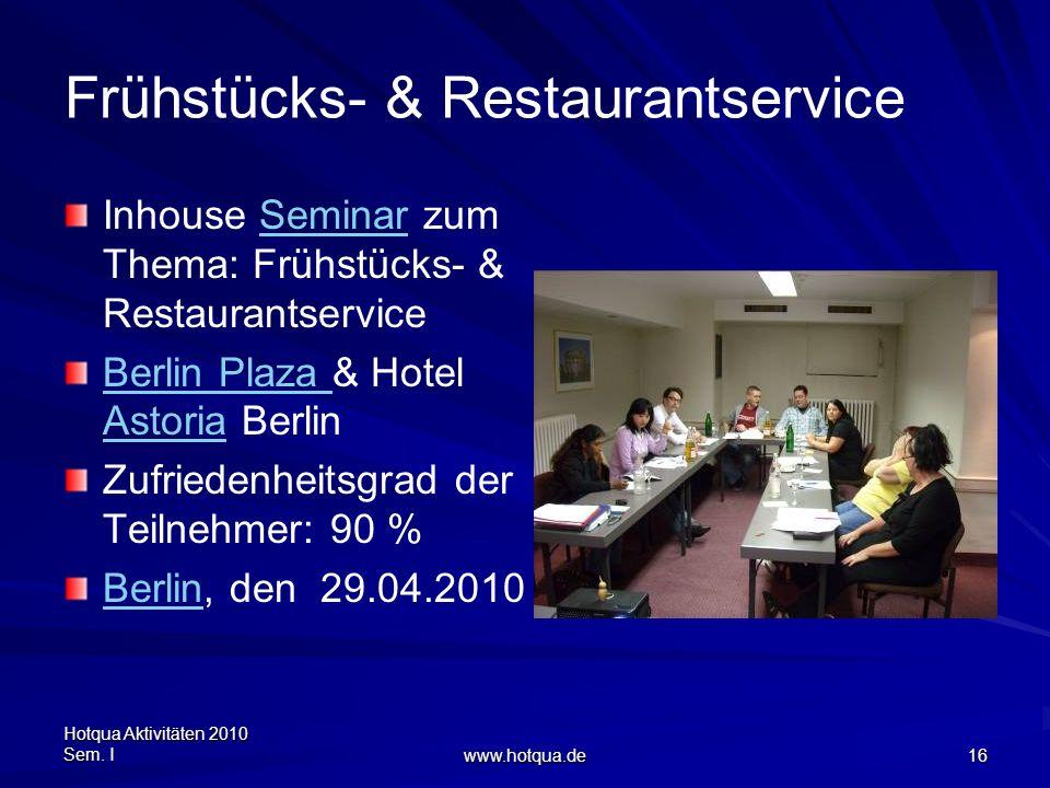 Frühstücks- & Restaurantservice