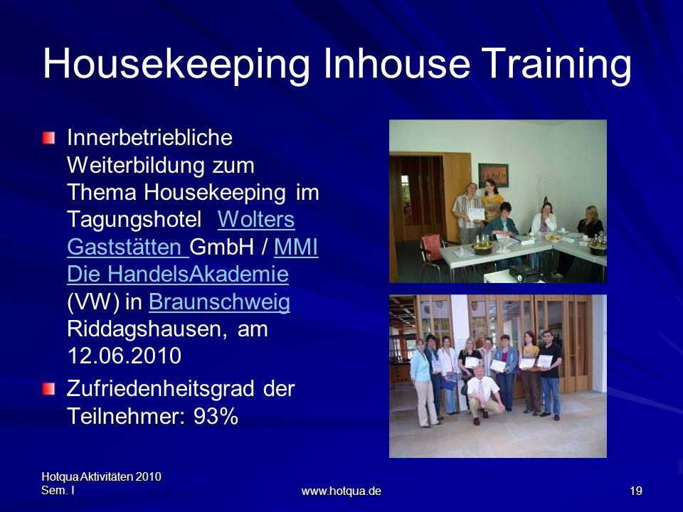Housekeeping Inhouse Training