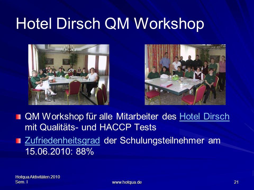 Hotel Dirsch QM Workshop