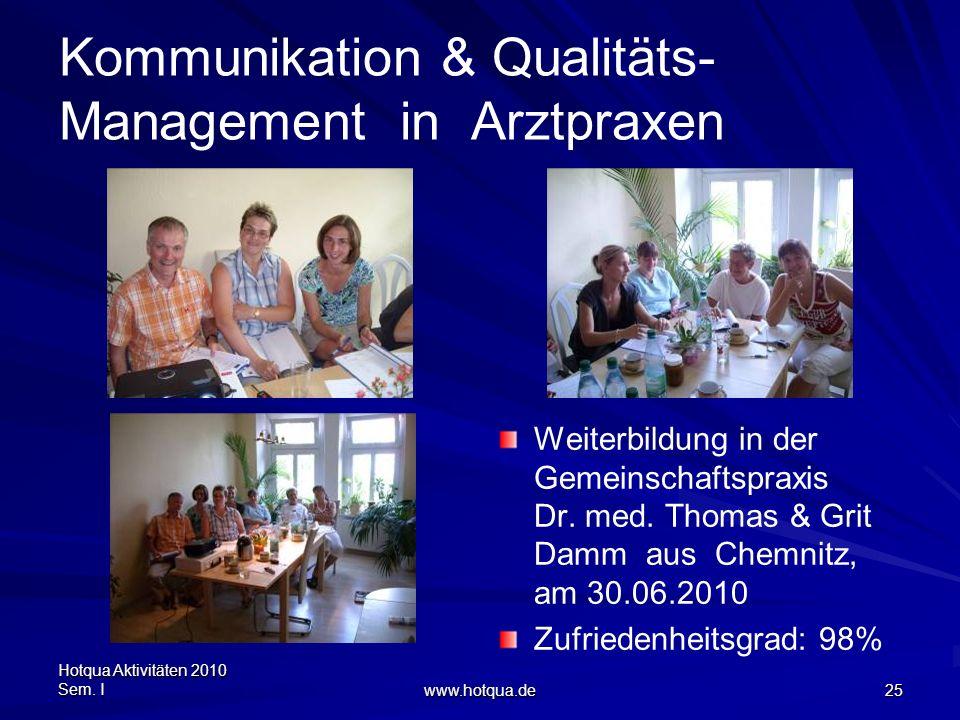 Kommunikation & Qualitäts-Management in Arztpraxen