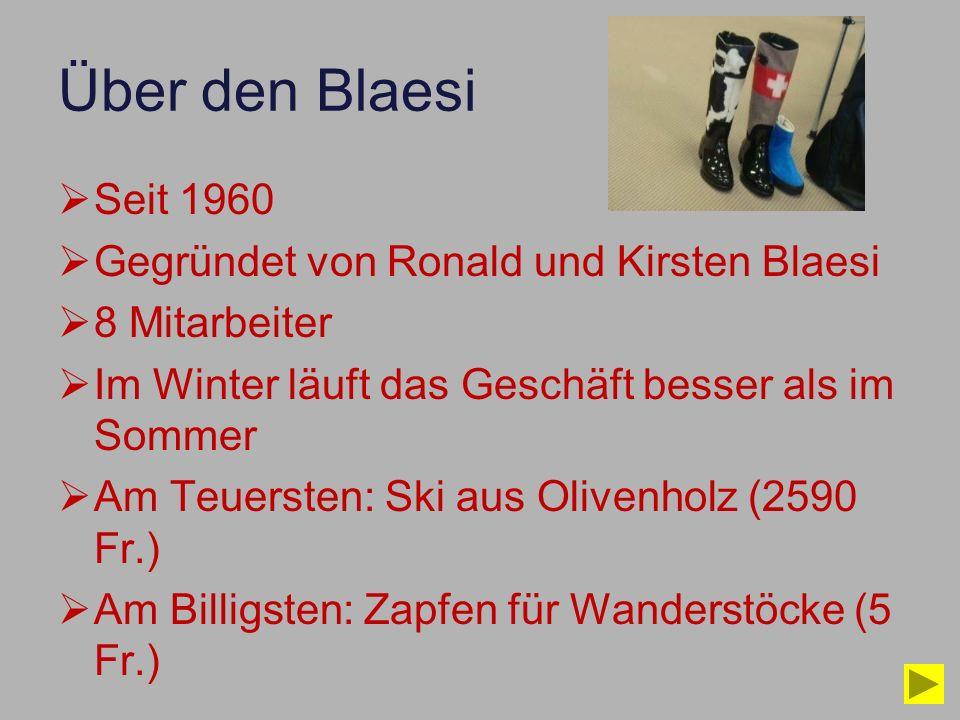 Über den Blaesi Seit 1960 Gegründet von Ronald und Kirsten Blaesi