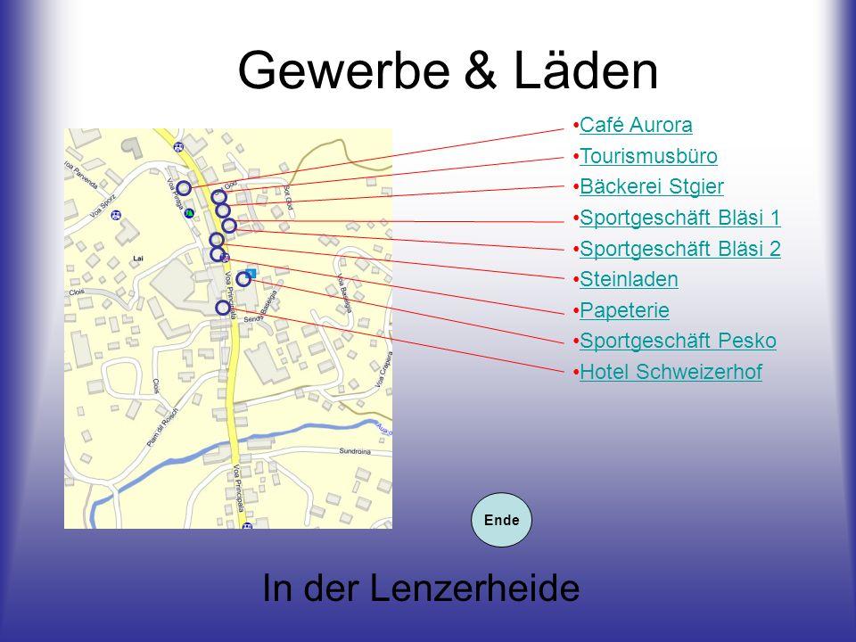 Gewerbe & Läden In der Lenzerheide Café Aurora Tourismusbüro
