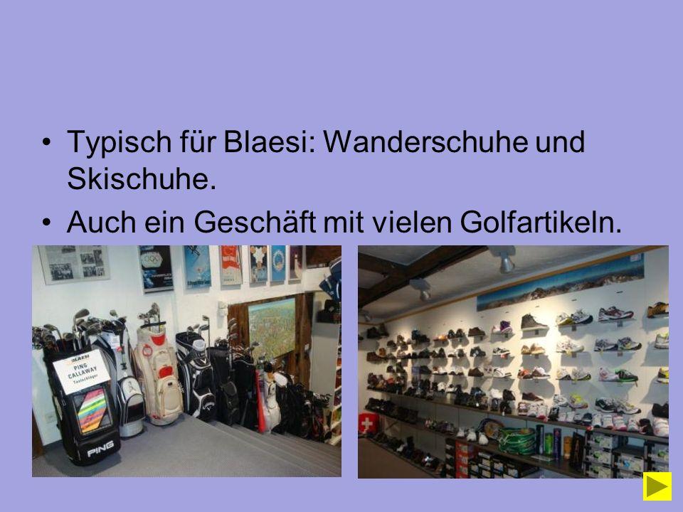 Typisch für Blaesi: Wanderschuhe und Skischuhe.