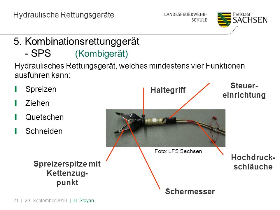 5. Kombinationsrettunggerät - SPS (Kombigerät)