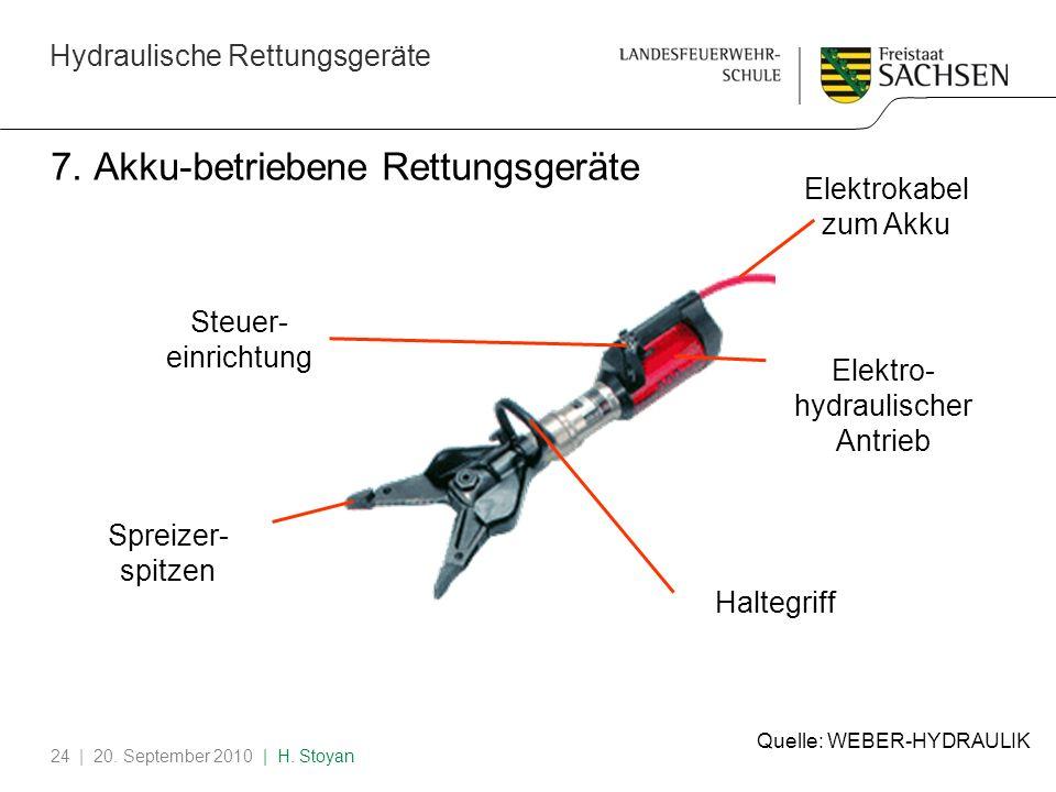 7. Akku-betriebene Rettungsgeräte