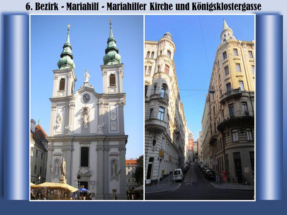 6. Bezirk - Mariahilf - Mariahilfer Kirche und Königsklostergasse