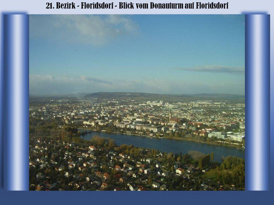 21. Bezirk - Floridsdorf - Blick vom Donauturm auf Floridsdorf