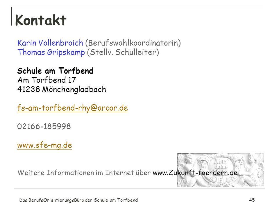 Kontakt Karin Vollenbroich (Berufswahlkoordinatorin)