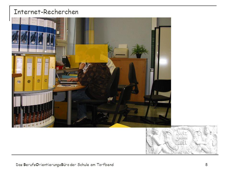 Internet-Recherchen Das BerufsOrientierungsBüro der Schule am Torfbend 8