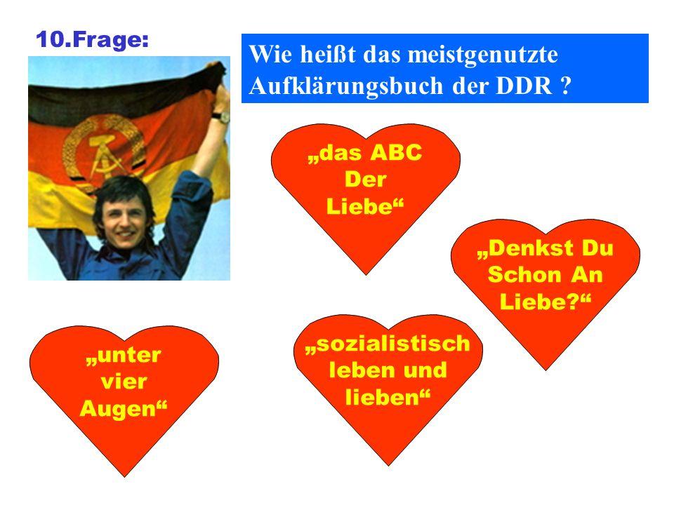 Wie heißt das meistgenutzte Aufklärungsbuch der DDR