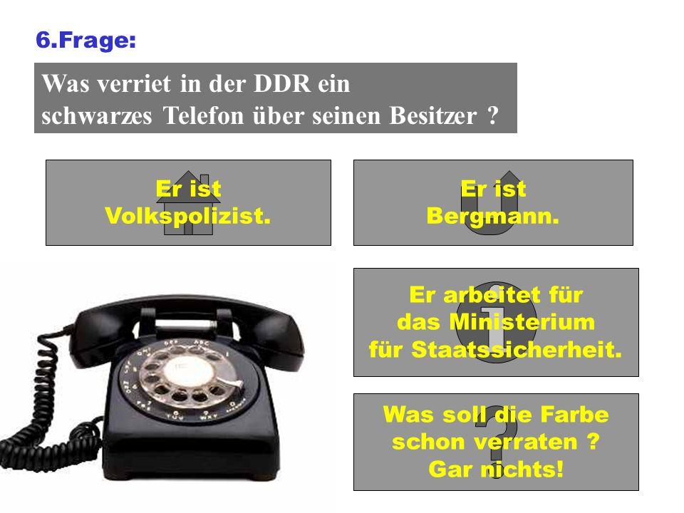 Was verriet in der DDR ein schwarzes Telefon über seinen Besitzer