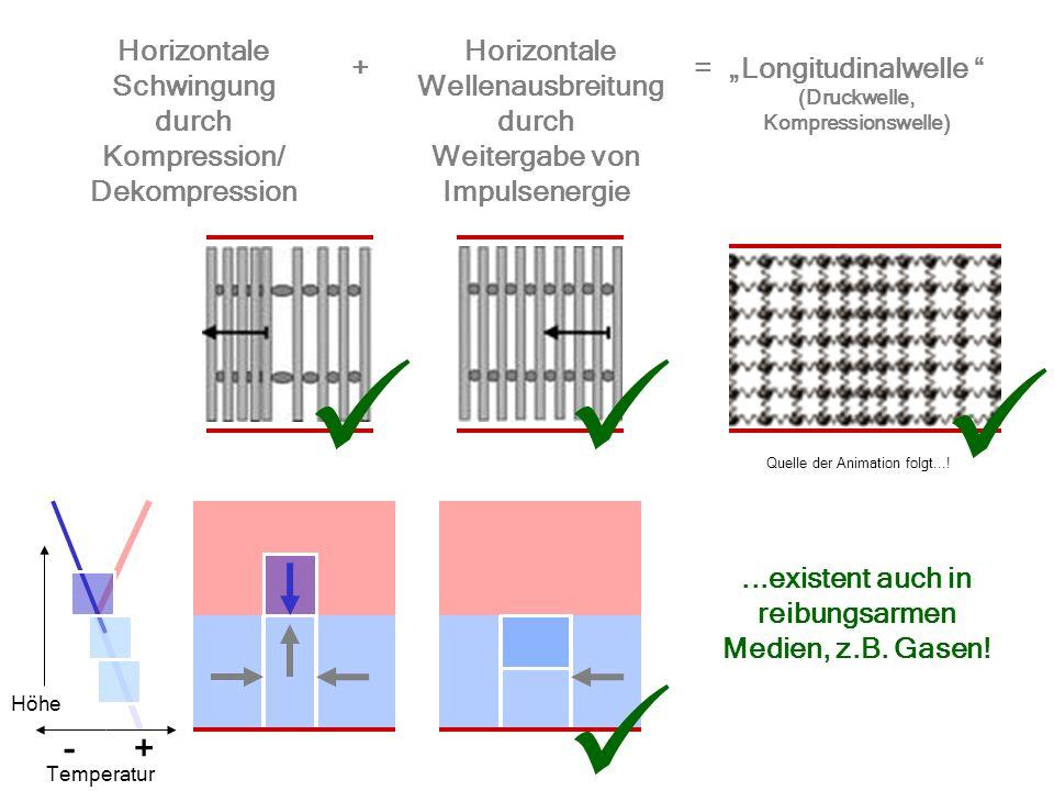     - + Horizontale Schwingung Horizontale Wellenausbreitung + =