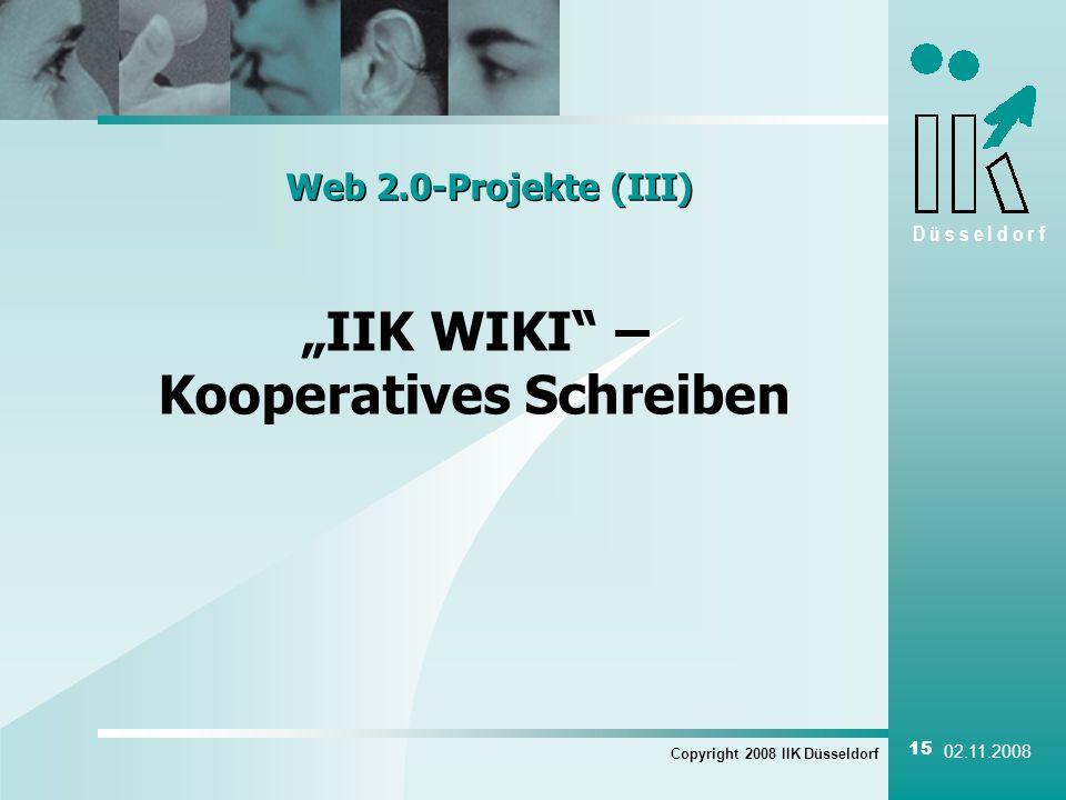"""""""IIK WIKI – Kooperatives Schreiben"""
