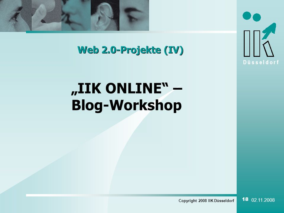 """IIK ONLINE – Blog-Workshop"