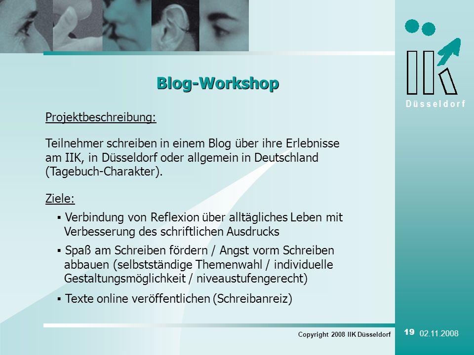 Blog-Workshop Projektbeschreibung: