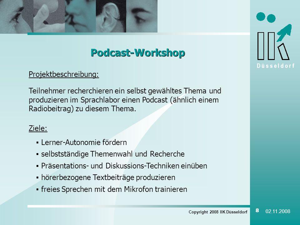 Podcast-Workshop Projektbeschreibung: