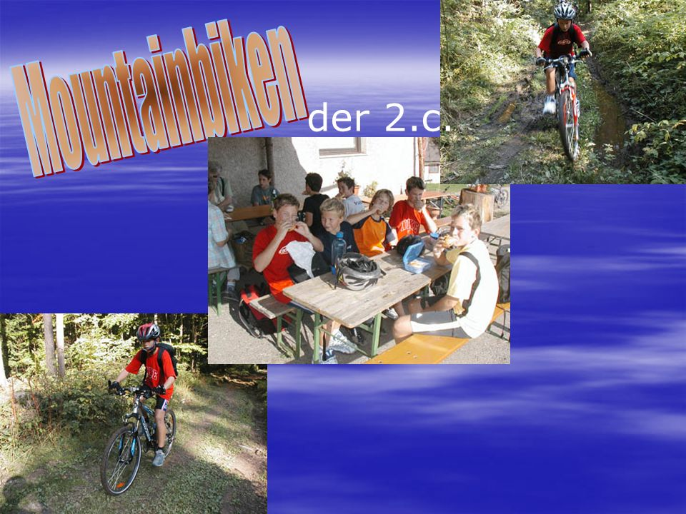 Mountainbiken der 2.c.