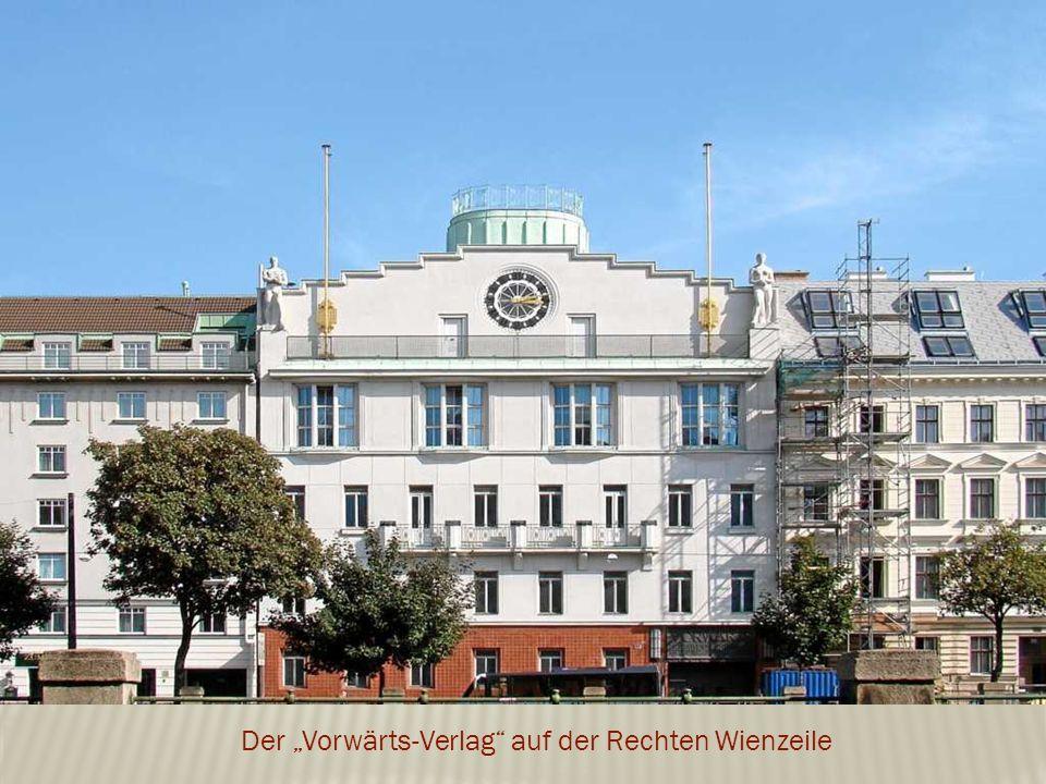 """Der """"Vorwärts-Verlag auf der Rechten Wienzeile"""