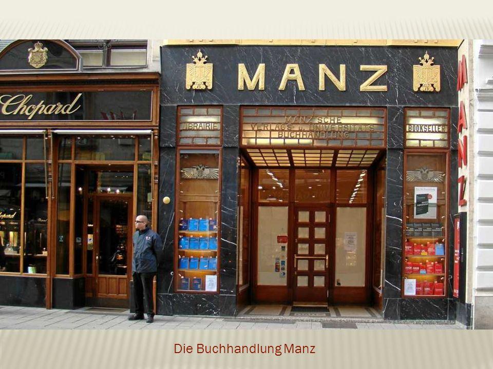 Die Buchhandlung Manz