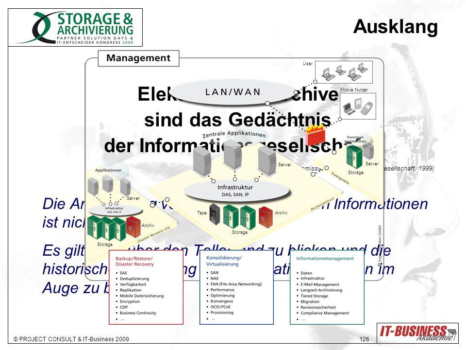 Elektronische Archive der Informationsgesellschaft.