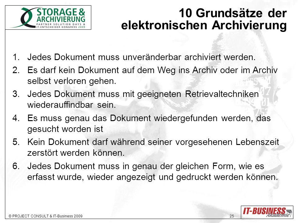 10 Grundsätze der elektronischen Archivierung